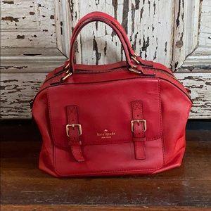 Kate Spade Red pebbled leather handbag